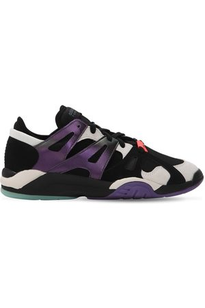 Sneakers Aus Leder Und Mesh