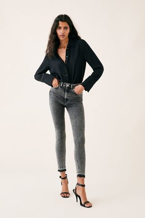 Zara High-waist-jeans zw premium 80's in snow black