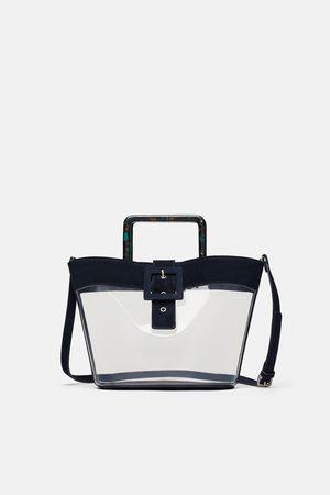 Zara Shopper aus vinyl und leder