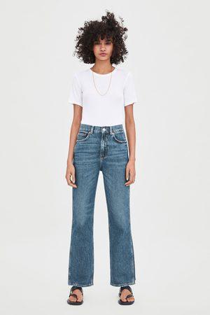 Zara Gerade geschnittene hi-rise-jeans im relaxed-fit
