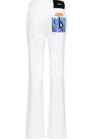 Calvin Klein High-Rise Straight Leg Jeans