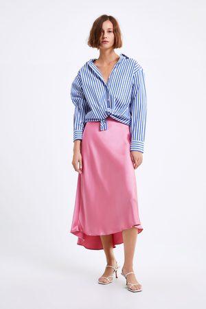 Zara Popeline-hemd mit streifen