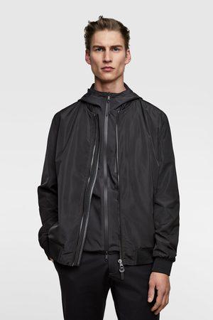 Zara Contrast bomber jacket