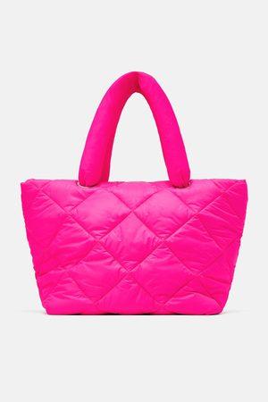 Zara Gesteppter shopper in neonpink