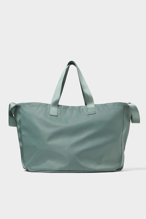 Zara Weicher xl-shopper in blau