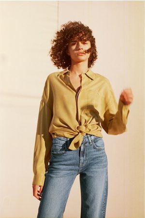 Zara Damen Weite Hosen - Jeans hi rise wide leg