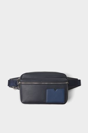Zara Blaue basic-umhängetasche