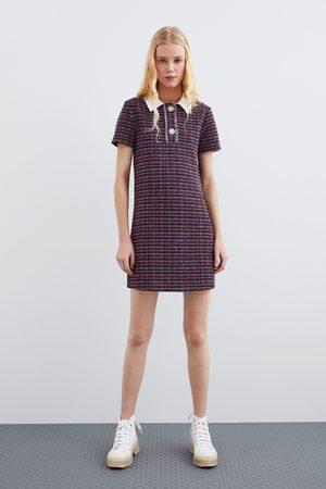 Zara Kombiniertes kleid mit kragen