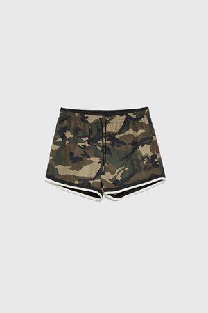 Zara Badeshorts mit camouflagemuster