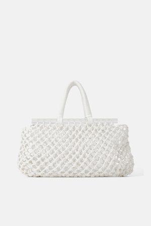 Zara Shopper aus netzstoff und acrylglas