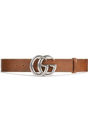 Gucci Herren Gürtel - Leather belt with Double G buckle