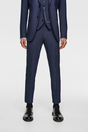 Zara TEXTURED WEAVE SUIT TROUSERS