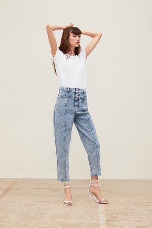 Zara Damen Baggy & Boyfriend - Jeans zw premium '80s baggy acid blue