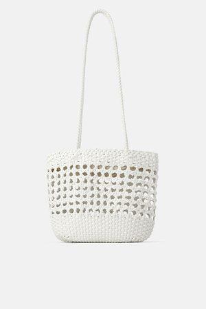 Zara Shopper in flechtoptik