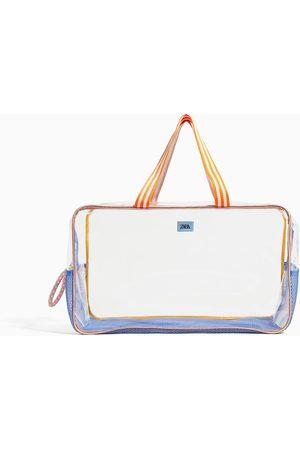 Zara Damen Strandtaschen - Vinyl maxi beach bag