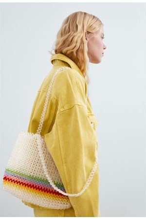 Zara Shopper mit bunten schmuckperlen