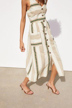 Zara ärmelloses kleid mit streifen