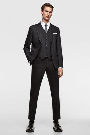 Zara Bequeme chintz-anzugweste – tailoring