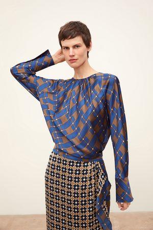 Zara Damen Blusen - Bluse mit muster