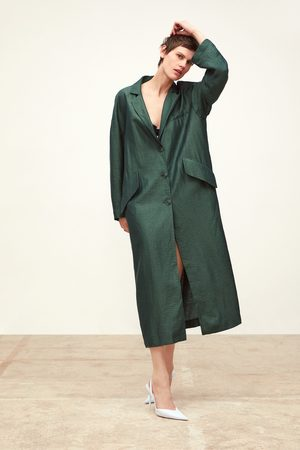Zara Damen Trenchcoats - Fliessender trenchcoat mit taschen