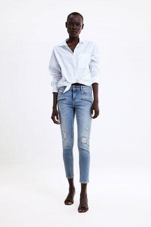 Zara Jeans z1975 im skinny-fit mit rissen