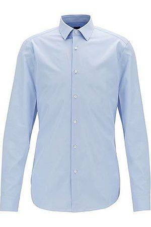 HUGO BOSS Slim-Fit Hemd aus Baumwolle mit Perlmuttknöpfen