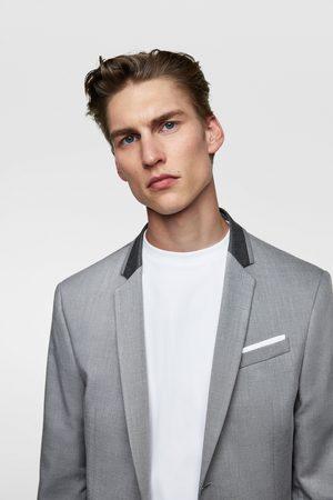 Zara Anzugjackett mit kontrastkragen