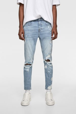Zara Skinny-jeans mit farbklecksen