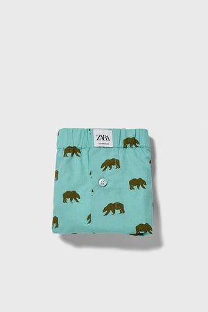 Zara Popelin-boxershorts mit bären-print