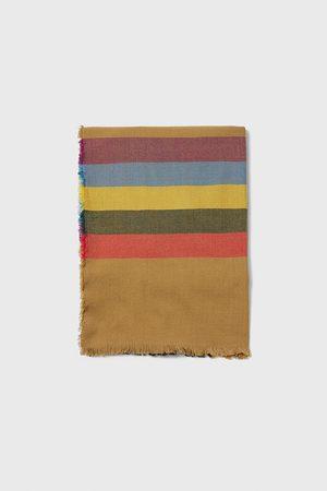 Zara Herren Schals - Schal mit kombiniertem streifenmuster