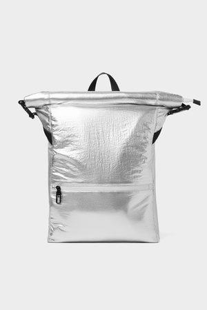Zara Herren Rucksäcke - Silberfarbener rucksack