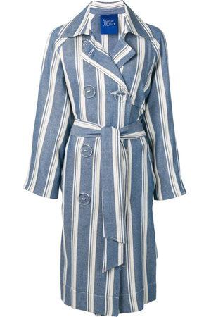 SIMON MILLER Damen Trenchcoats - Striped trench coat