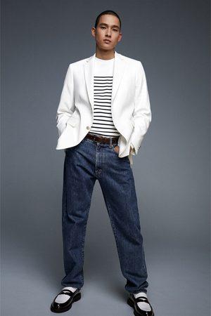 Zara Textured blazer with button details