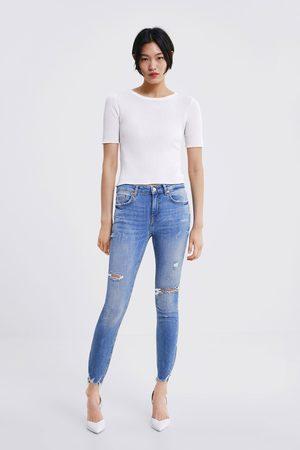 Zara Skinny-jeans zw premium mit rissen
