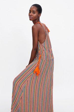 Zara Mehrfarbiges trägerkleid
