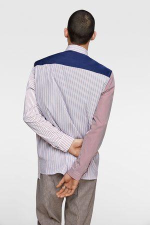 Zara Striped patchwork shirt