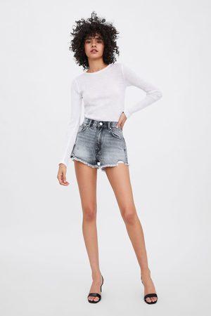 Zara Mid-rise-jeansshorts