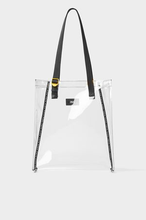 Zara Transparente shoppertasche