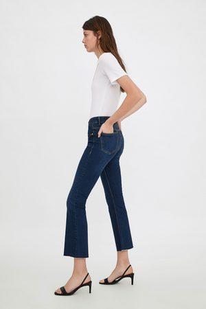 Zara Ausgestellte mid-rise-jeans im cropped-schnitt