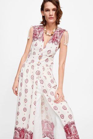 Zara Tunika mit print und stickerei