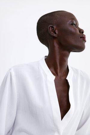 Zara Oversize-bluse mit schlitzen