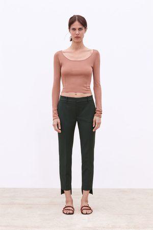 Zara Hose mit asymmetrischem saum