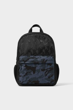 Zara Schwarzer rucksack mit camouflagemuster