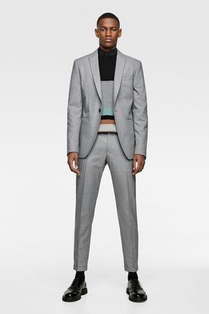 Zara Panama-anzugblazer mit strukturmuster