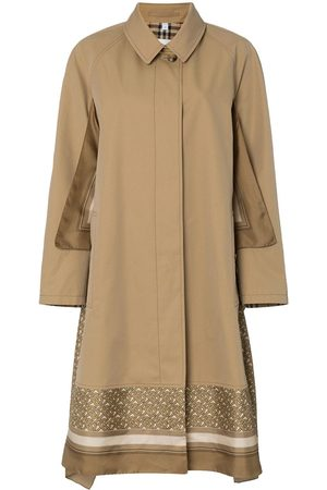 Burberry Scarf-layer trench coat