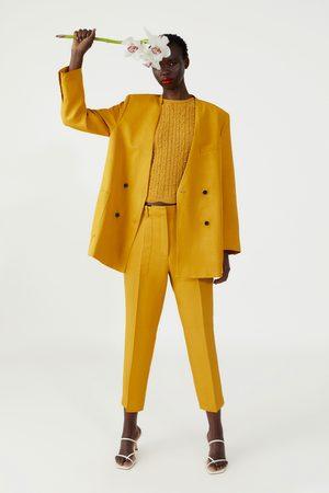 Zara Doppelreihiger blazer mit taschen