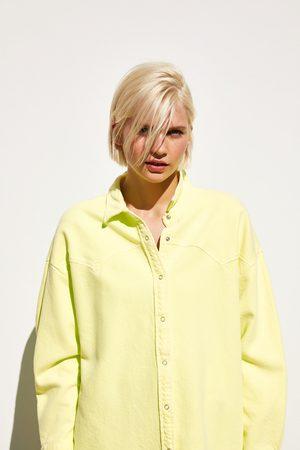 Zara überhemd in neonfarbe