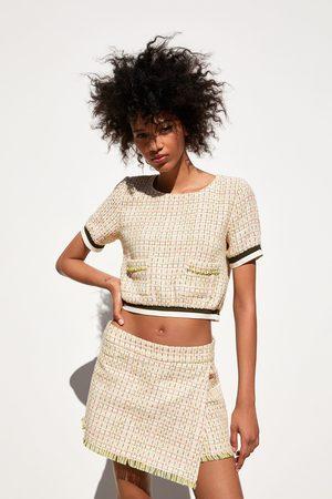 Zara Bermuda-hosenrock aus tweed