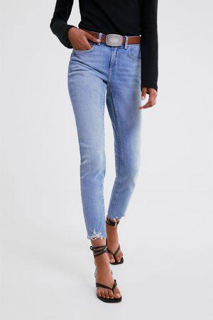 Zara Skinny-jeans z1975 mit unversäubertem saum