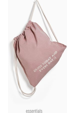 Zara Beuteltasche aus baumwolle mit print